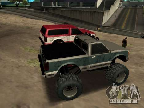 Street Monster para GTA San Andreas vista interior
