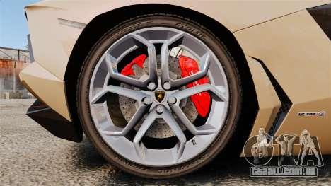 Lamborghini Aventador LP700-4 2012 [EPM] para GTA 4 vista de volta
