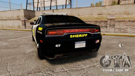 Dodge Charger 2013 LCSO [ELS] para GTA 4 traseira esquerda vista