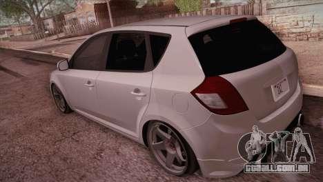 Kia Ceed 2011 SA Plates para GTA San Andreas traseira esquerda vista