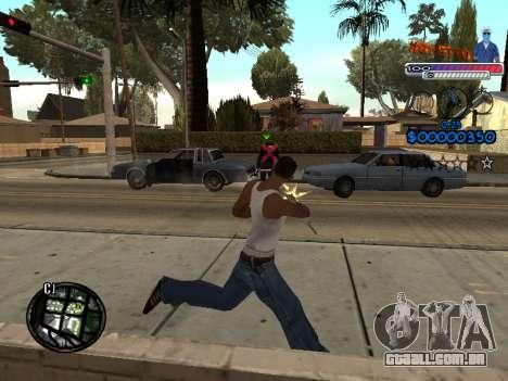 O novo C-HUD do Gueto para GTA San Andreas por diante tela