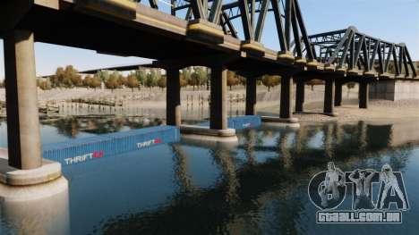 A estrada debaixo da ponte para GTA 4 quinto tela