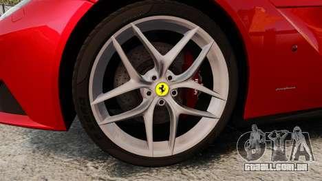 Ferrari F12 Berlinetta 2013 [EPM] Deaths-head para GTA 4 vista de volta