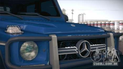 Mercedes-Benz G63 AMG 6X6 para GTA San Andreas vista interior