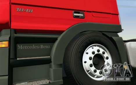 Mercedes-Benz Actros para GTA San Andreas vista inferior