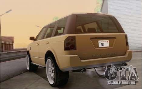 Gallivanter Baller из GTA V para GTA San Andreas vista interior
