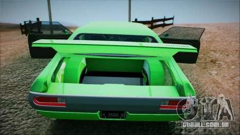Ford Gran Torino De 1972 para GTA San Andreas traseira esquerda vista
