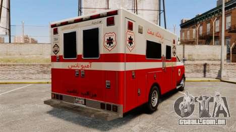 Iraniano pintura ambulância para GTA 4 traseira esquerda vista