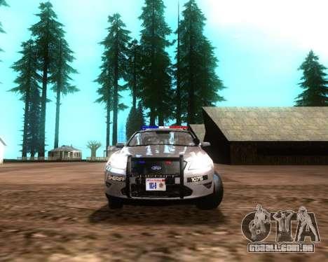 Ford Interceptor Los Santos County Sheriff para GTA San Andreas esquerda vista