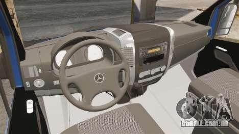 Mercedes-Benz Sprinter 2011 WWE Ultimate Warrior para GTA 4 vista de volta