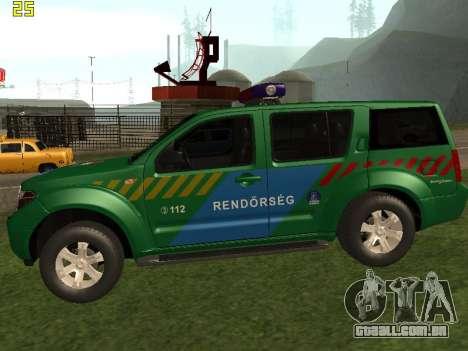 Nissan Pathfinder Police para GTA San Andreas esquerda vista