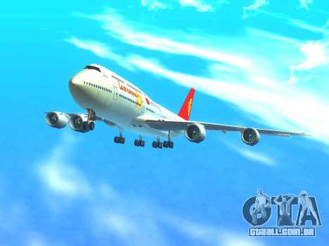 Boeing 747 Air China para GTA San Andreas vista superior