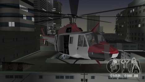 Bell HH-1D para GTA Vice City vista lateral