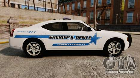 Dodge Charger 2010 Liberty County Sheriff [ELS] para GTA 4 esquerda vista