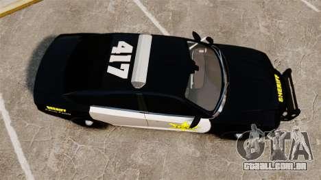 Dodge Charger 2013 LCSO [ELS] para GTA 4 vista direita