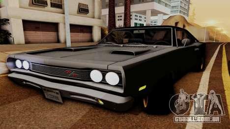 Dodge Coronet RT 1969 440 Six-pack para GTA San Andreas vista traseira