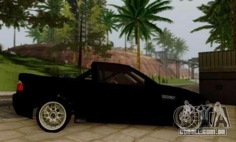 BMW M3 para GTA San Andreas vista traseira