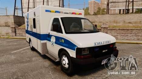 Brute Speedo TEMS Ambulance [ELS] para GTA 4