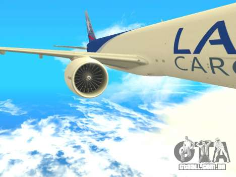 Boeing 777 LAN Cargo para GTA San Andreas vista traseira