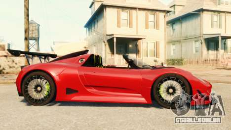 Porsche 918 Spider Body Kit Final para GTA 4 esquerda vista