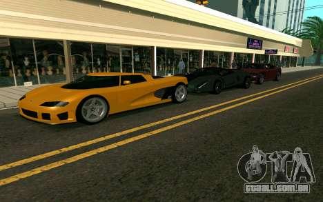 GTA V Entity XF para GTA San Andreas esquerda vista