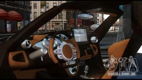 Pagani Huayra Police v1.1 para GTA 4 traseira esquerda vista