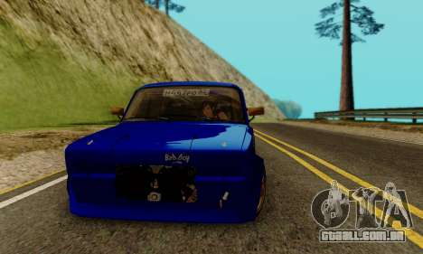 VAZ 2107 Drift para GTA San Andreas vista traseira