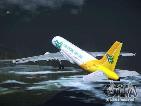 Airbus A320 Cebu Pacific Air para GTA San Andreas vista inferior