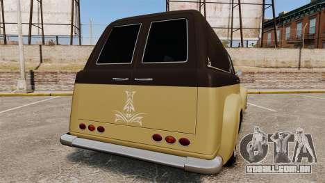 Vapid Slamvan para GTA 4 traseira esquerda vista
