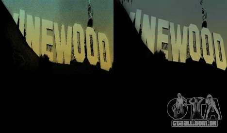 HD cartão, radar, menu para GTA San Andreas quinto tela