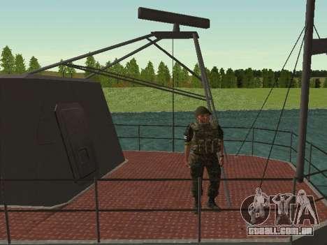 O Corpo de fuzileiros navais das forças armadas  para GTA San Andreas sexta tela