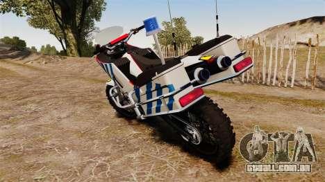 Português motocicleta de polícia [ELS] para GTA 4 vista direita