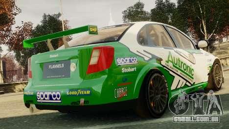 Chevrolet Lacetti para GTA 4 traseira esquerda vista
