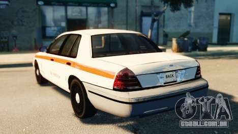 Ford Crown Victoria 2007 Vodafone para GTA 4 esquerda vista