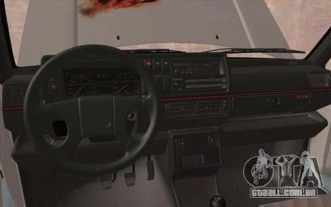 Volkswagen Golf 2 para GTA San Andreas vista interior