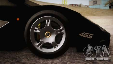 McLaren F1 Police Edition para GTA San Andreas vista direita