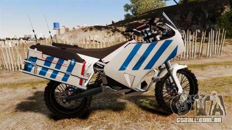 Português motocicleta de polícia [ELS] para GTA 4 esquerda vista