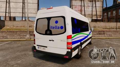 Mercedes-Benz Sprinter Itella Logistics para GTA 4 traseira esquerda vista
