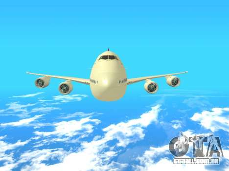 Boeing 747 Air China para vista lateral GTA San Andreas