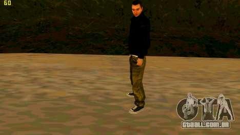 A nova textura Claude para GTA San Andreas terceira tela