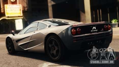McLaren F1 XP5 para GTA 4 esquerda vista