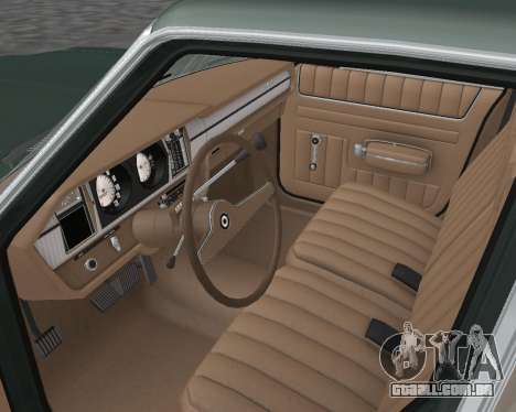 AMC Matador 1972 para GTA San Andreas vista interior