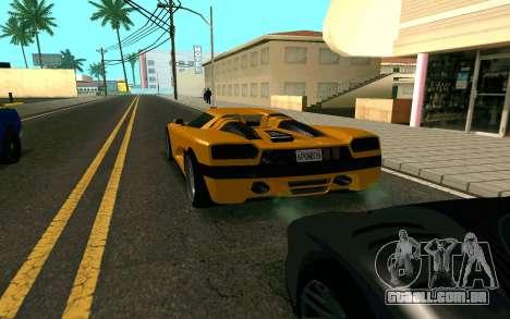 GTA V Entity XF para GTA San Andreas traseira esquerda vista