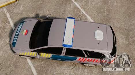 Ford Mondeo Hungarian Police [ELS] para GTA 4 vista direita