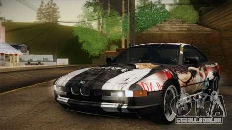 BMW M8 Custom para GTA San Andreas vista traseira