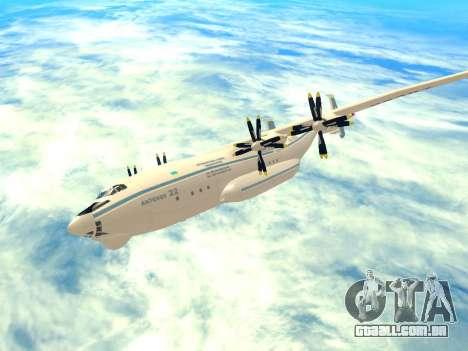 An-22 Antei para GTA San Andreas vista traseira