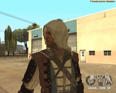 Assassino Edward para GTA San Andreas por diante tela