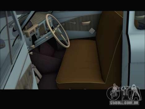 GAZ 21 para GTA San Andreas traseira esquerda vista