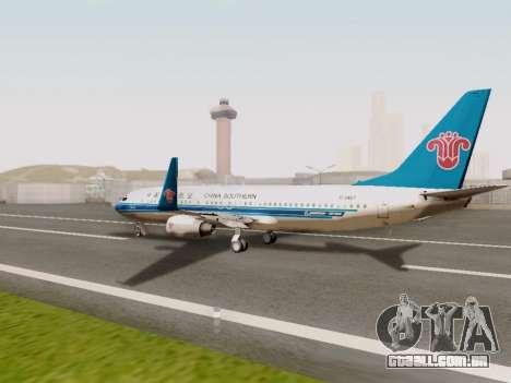 China Southern Airlines Boeing 737-800 para GTA San Andreas vista direita