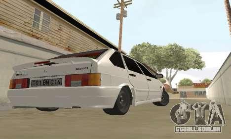 VAZ 2114 Avtosh para GTA San Andreas traseira esquerda vista